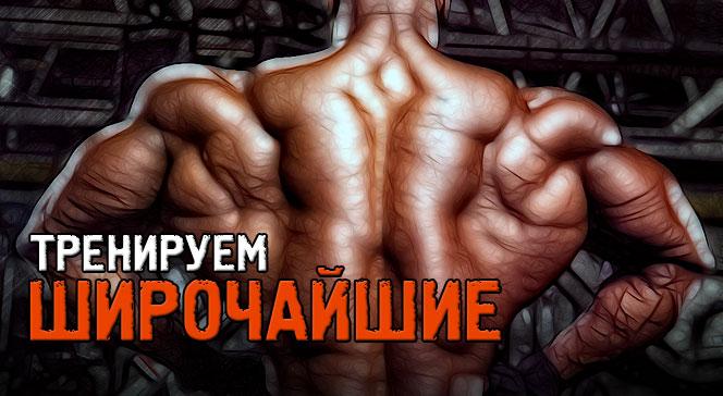 Как накачать широчайшие мышцы спины — упражнения для дома
